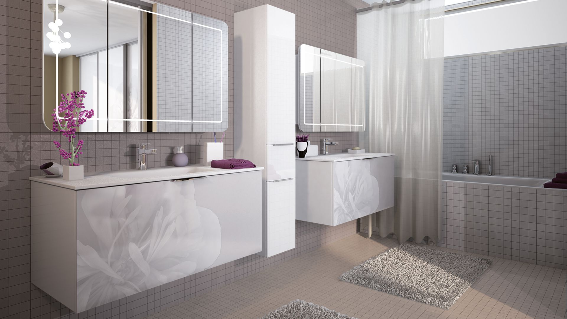 Chambre blanche disque dur for Salle de bain taupe et chocolat